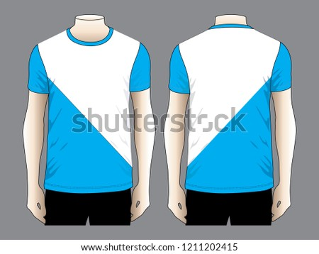 dae3001a T Shirt Design Vector Blue White Two Stock Vector (Royalty Free ...