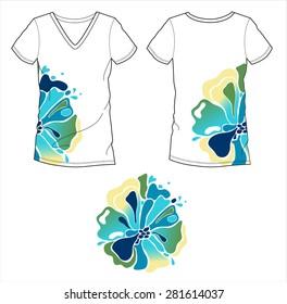 T-shirt Floral placement fashion design