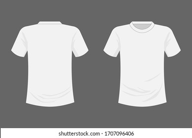 T-shirt front and back view design.