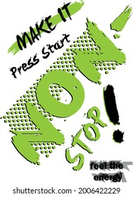 t-shirt graphics print vector illustration design Splashed and newspaper print children's pattern designs