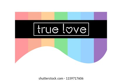 T-shirt graphics, vector tee grapic design. True love typography.