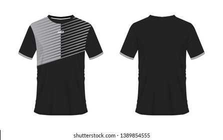 fdde308a15e T-shirt grey and black soccer or football template for team club on white  background