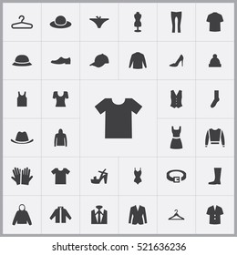 t-shirt icon. clothes icons universal set for web and mobile
