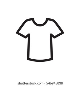 T-shirt icon illustration isolated vector sign symbol