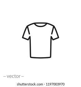 t-shirt icon, linear sign isolated on white background - vector illustration eps10