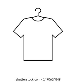 Tshirt icon   on the hanger. dress vector icon. clothing icon dress