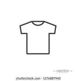 T-shirt icon vector. Linear style sign for mobile concept and web design. T-shirt symbol illustration