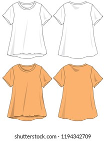 T-shirt lady template for design vector