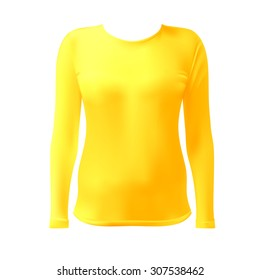 T-shirt with long sleeves women vector