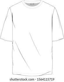 T-shirt Oversize illustration . EPS