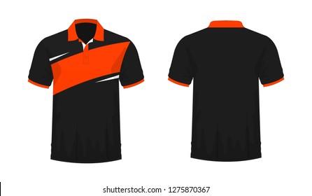 white orange polo shirt