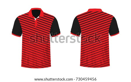 7d2ff596a Tshirt Polo Red Black On White Stock Vector (Royalty Free) 730459456 ...