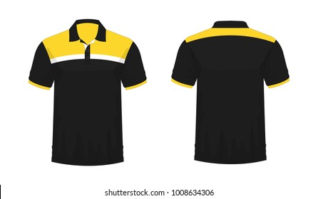 b06a2bed T-shirt Polo yellow and black template for design on white background.  Vector illustration