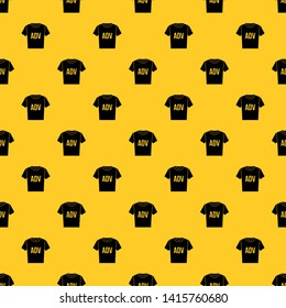 T-shirt with print ADV pattern seamless vector repeat geometric yellow for any design