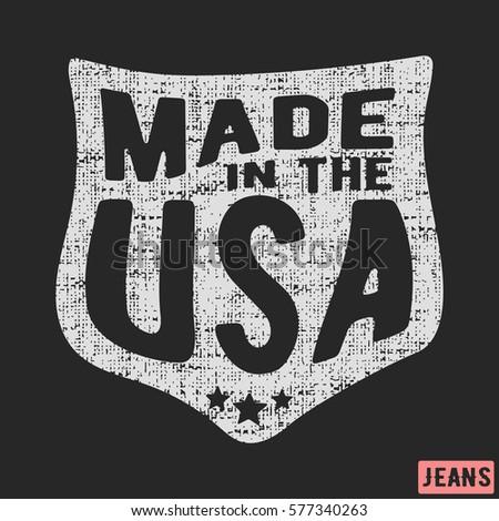tshirt print design made usa vintage stock vector royalty free