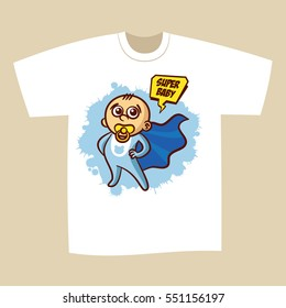 T-shirt Print Design Superhero Baby Boy