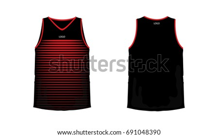tshirt red black basketball football template stock vector royalty