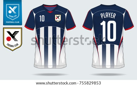 T-Shirt Sport Design. Soccer jersey or football kit template for sport shirt . 5f8f15c0d