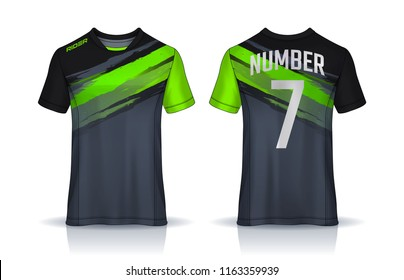 9c20dd562a20 t-shirt sport design template, Soccer jersey mockup for football club.  uniform front