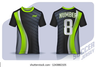 0a00d5dea t-shirt sport design template, Soccer jersey mockup for football club.  uniform front