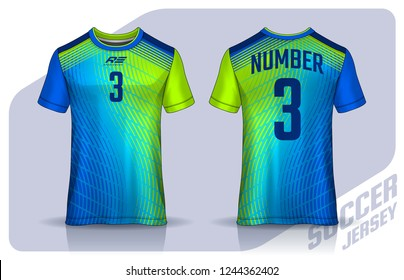 705385c94 t-shirt sport design template, Soccer jersey mockup for football club.  uniform front