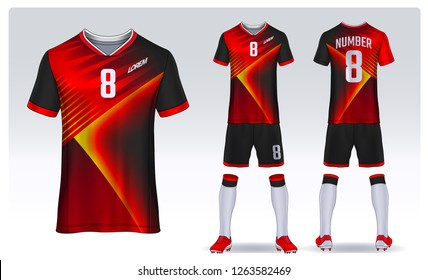 0190f0e5616 t-shirt sport design template, Soccer jersey mockup for football club.  uniform front