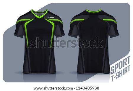 895770a10 Tshirt Sport Design Template Soccer Jersey Stock Vector (Royalty ...