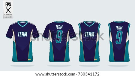 T Shirt Sport Design Template For Soccer Jersey Football Kit And Tank Top