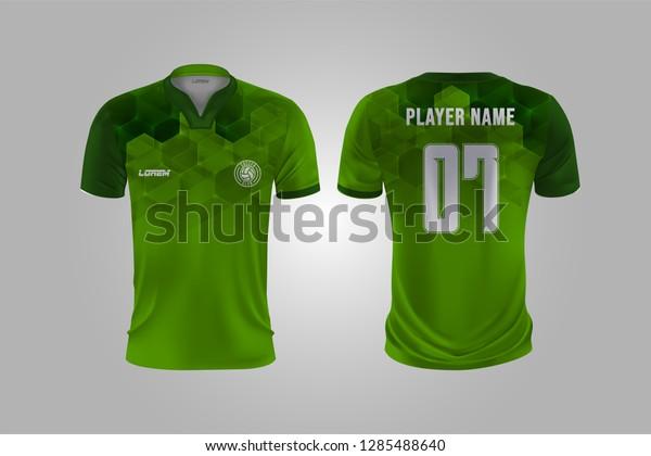 Tshirt Sport Design Template Soccer Jersey Stock Vector Royalty Free 1285488640