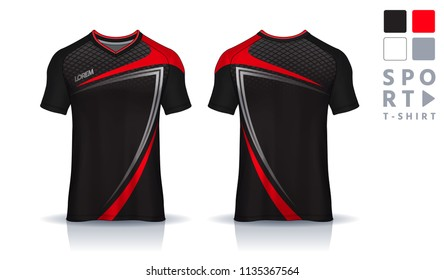 4e4a06b7 t-shirt sport design template,Soccer jersey mockup,uniform front and back  view