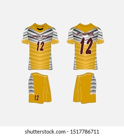 t-shirt sport design template,volleyball, Soccer or football jersey mockup,uniform front and back view.