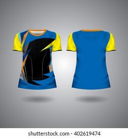 t-shirt sport design test mockup