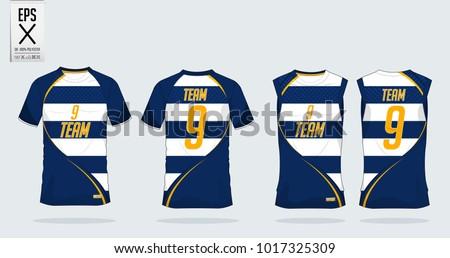 tshirt sport template design soccer jersey のベクター画像素材