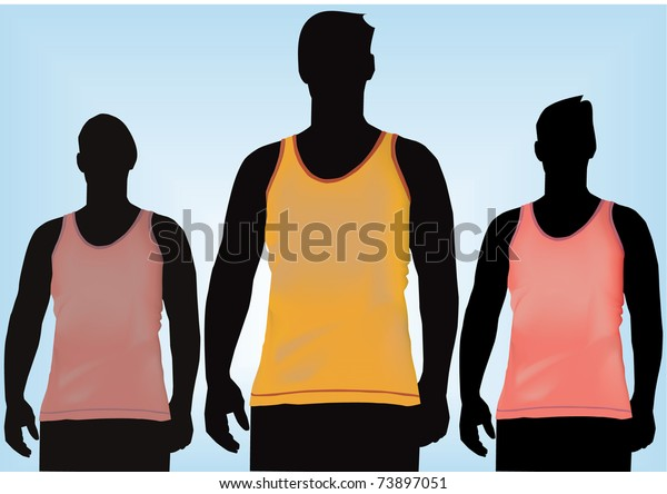 TShirt ,tank top,shirt front with mesh vector