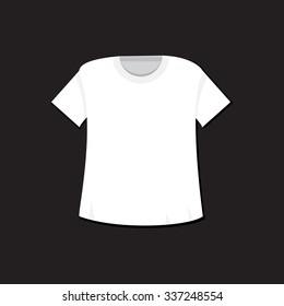 T-shirt template. Isolated sport singlet mockup. Vector