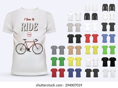 T-shirt template set for men and women bd7d8c50f79f