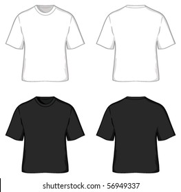 Black T Shirt Template High Res Stock Images Shutterstock