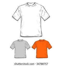T-Shirt-Vorlagen.  Vektorgrafik.