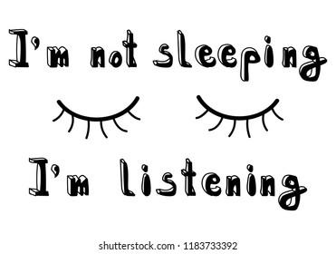 Eyebrow Lashes Eyes T-Shirt White Black Tee Shirt Eyelashes Closed Sleep