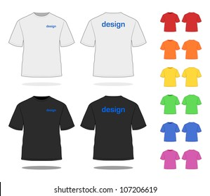T-SHIRT in various colors. Simple VECTOR, easy to adjust. See more apparel design in my portfolio!
