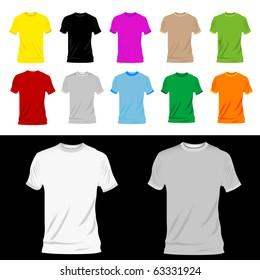t-shirts big set. vector illustration