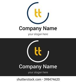 TT business logo icon design template elements. Vector color sign.