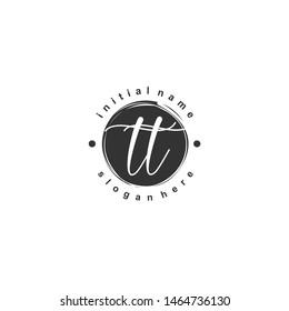 TT Initial beauty monogram logo vector