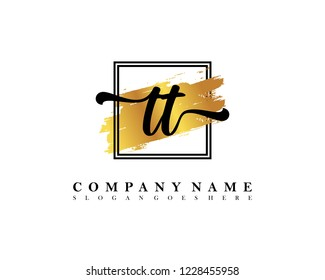 TT Initial handwriting logo concept