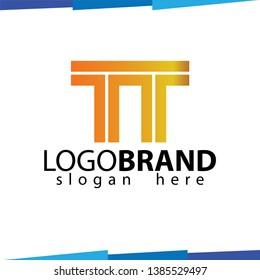 TT Initial Letter Logo Vector