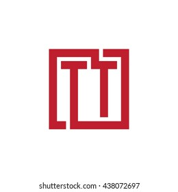 TT initial letters looping linked square logo red