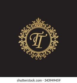 TT initial luxury ornament monogram logo
