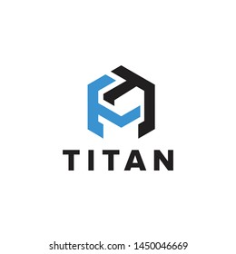 tt initial, titan or spartan logo with strong character