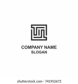 TT letter initial square logo.