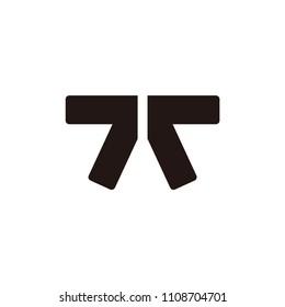 tt letter vector logo